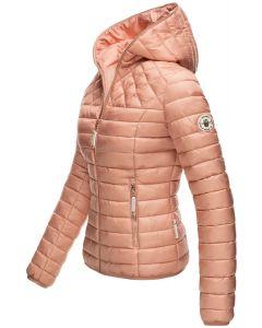 Dame dun jakke med hætte Smukke Rosa